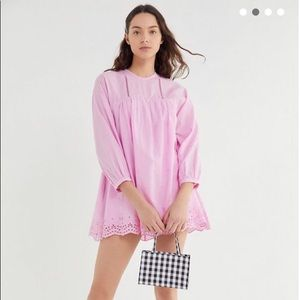 Urban Outfitters Pink Babydoll Romper